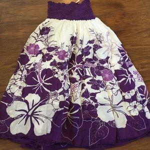 Strapless spring dress